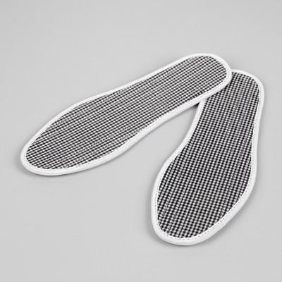 Стельки для обуви, окантовка, прошитые, ароматизированные, 35 р-р, пара, цвет белый/чёрный