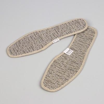 Стельки для обуви, окантовка, 35 р-р, пара, цвет серый