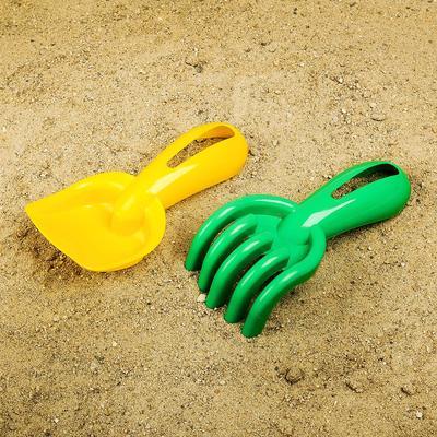 Набор для песочницы, совок и грабли с отверстием, цвета МИКС - Фото 1
