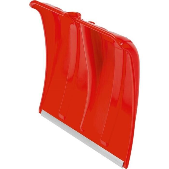 Ковш лопаты пластиковый, 385 × 370 мм, с алюминиевой планкой, без черенка, красный
