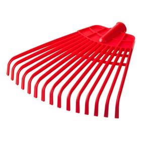 Грабли веерные, пластинчатые, 15 зубцов, пластиковые, тулейка 25 мм, без черенка Ош