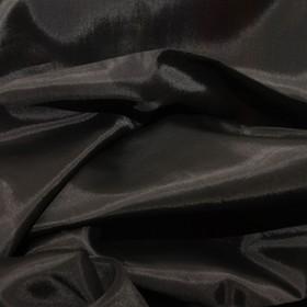 Ткань подкладочная, ширина 150 см, цвет чёрный Ош