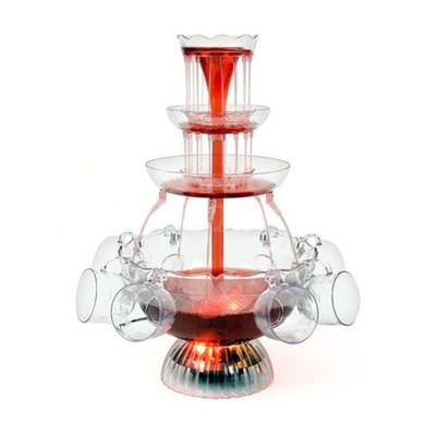 Фонтан для вина GASTRORAG WF03, помповый, 3 л, 3 яруса, 6 чашек из акрила, подсветка