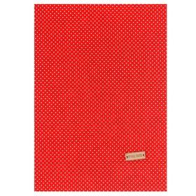 Ткань на клеевой основе «Красная в белый горошек», 21 х 30 см Ош