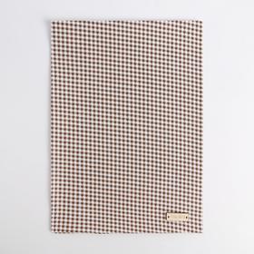 Ткань на клеевой основе «Мелкая синяя клеточка», 21 × 30 см Ош