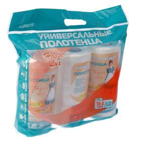 Полотенце универсальное 22×23 см, 3 рулона по 70 шт, спанлейс