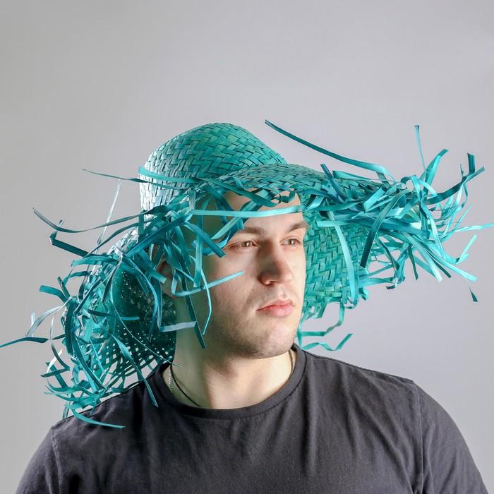 Карнавальная шляпа Солома, цвет зелёный