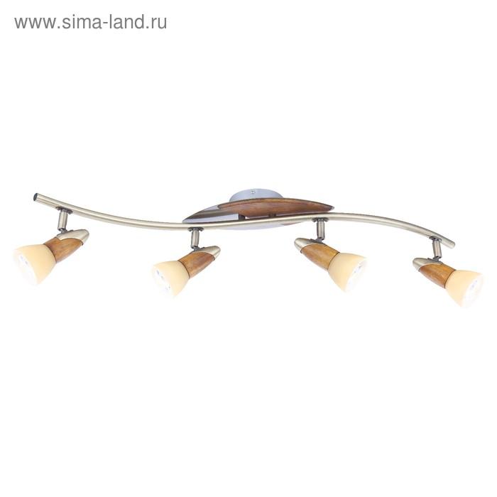 Спот LORD III 4x40Вт E14 R50 античная бронза 83x17,5см