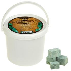 Камень для бани 'Нефрит' кубики, ведро 5кг, 'Добропаровъ' Ош