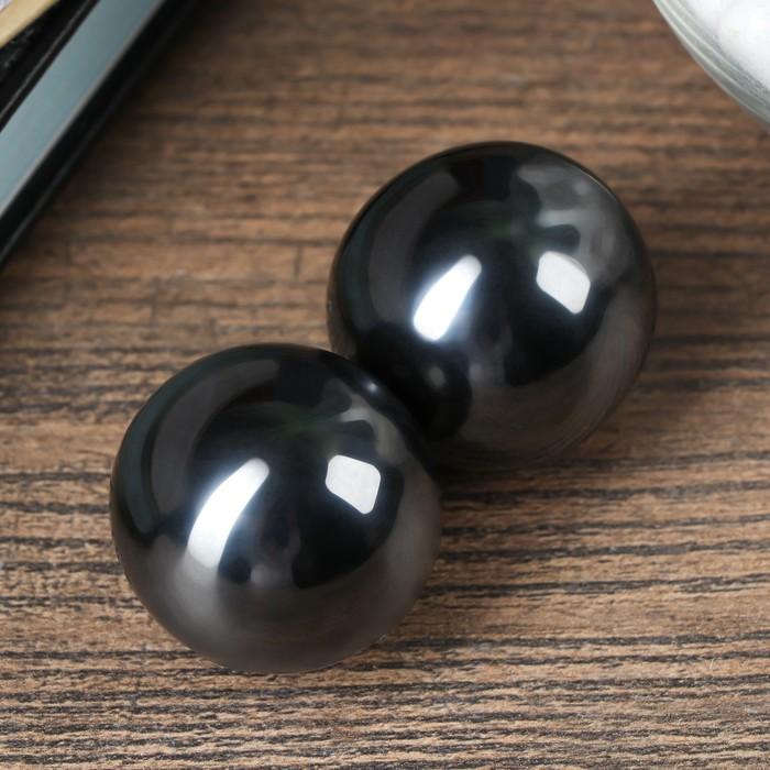 Магнитные шары чёрные набор 2 шт d3,5 см