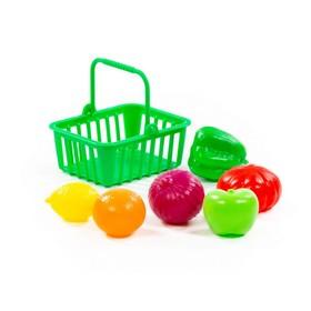 Игровой набор продуктов №13 с корзинкой, 7 предметов