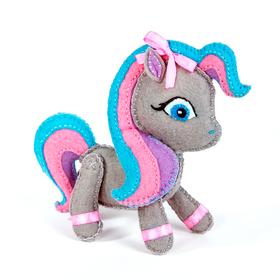 """Набор для изготовления игрушки из фетра """"Пони"""", 13 см"""