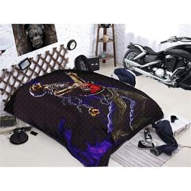Покрывало «Байкеры», размер 150 × 215 см, мако-сатин