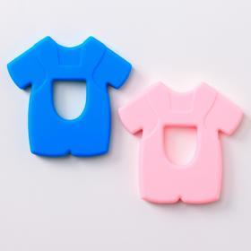 Прорезыватель силиконовый «Рубашка», цвет МИКС