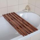 Решётка в ванну с водоотталкивающим покрытием, 68×26×3 см, сосна - Фото 1