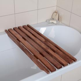 Решётка в ванну с водоотталкивающим покрытием 68×26×3 см, сосна Ош