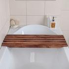 Решётка в ванну с водоотталкивающим покрытием, 68×26×3 см, сосна - Фото 2