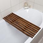 Решётка в ванну с водоотталкивающим покрытием, 68×26×3 см, сосна - Фото 5