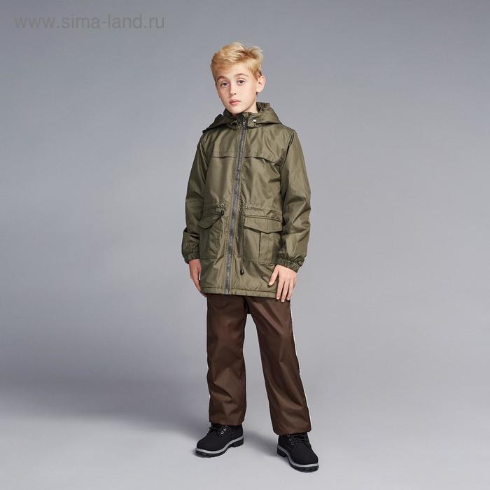Ветровка для мальчика, рост 110 см, цвет хаки