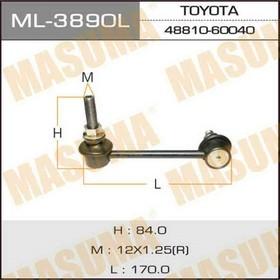 Стойка стабилизатора левая Masuma ML3890L, Toyota Ош