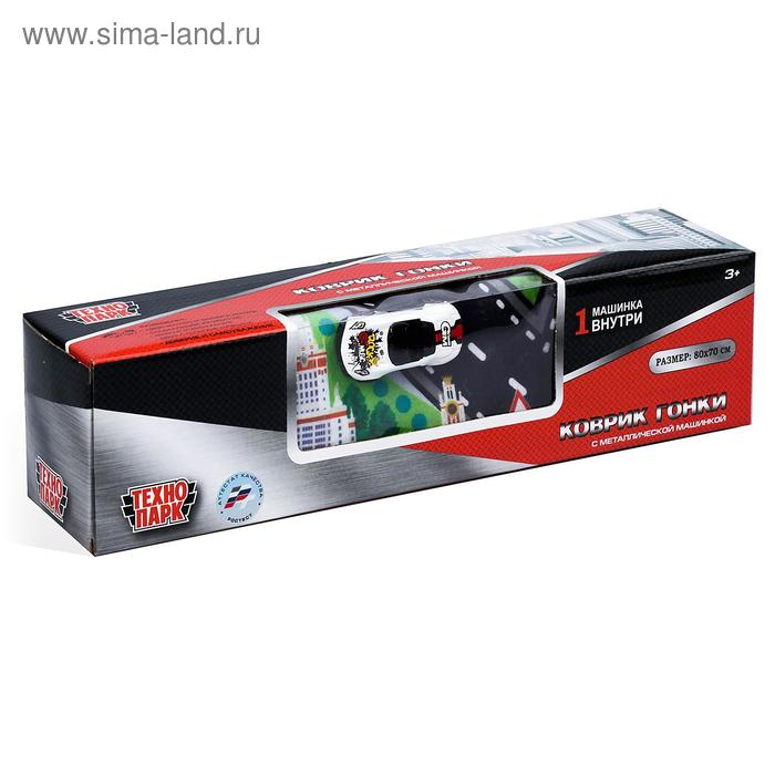 Коврик игровой «Технопарк», с одной металлической машинкой 7,5 см, МИКС