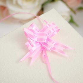 Бант- бабочка №1,2 простой с двумя полосами, розовый Ош