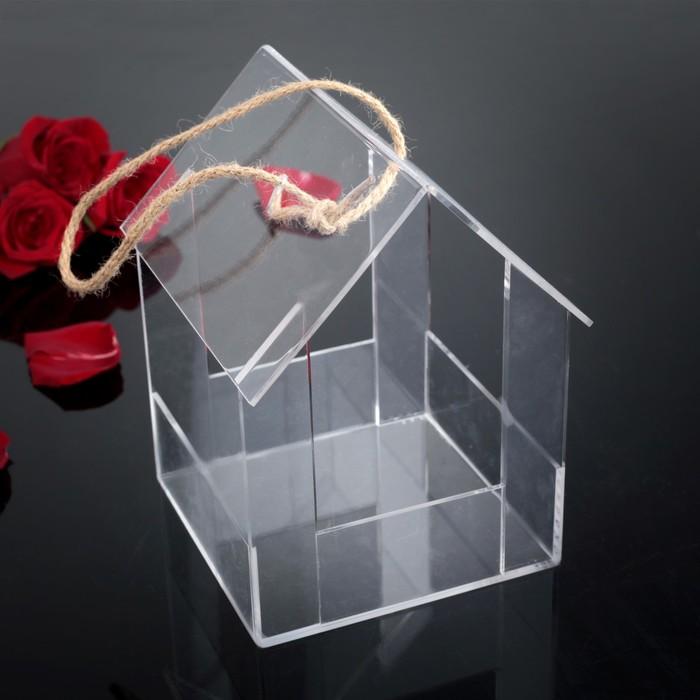 Коробка акриловая для цветов 19,5 х 16,5 х 17 см