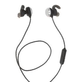 Наушники с микрофоном Denn DHB520 Bt, Bluetooth, вкладыши вакуумные, черно-серебристые