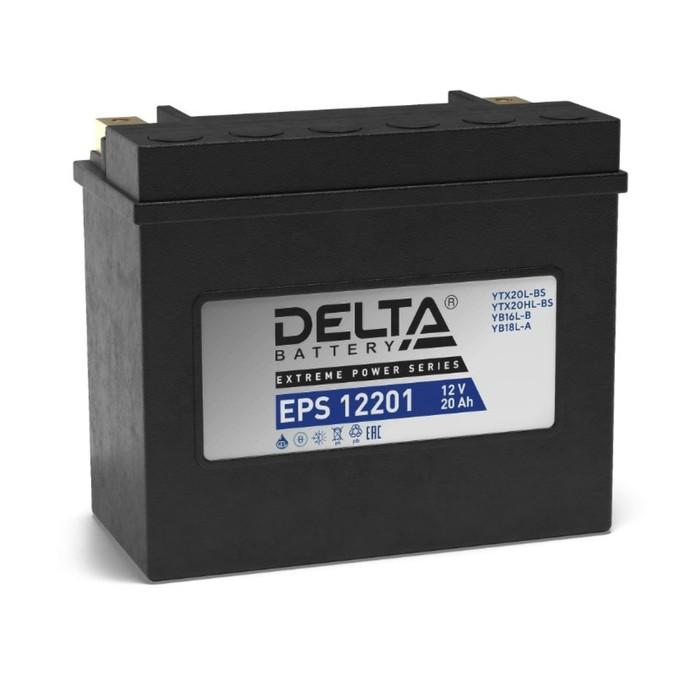 Аккумуляторная батарея Delta EPS 12201(YTX20HL-BS, YTX20L-BS)12V, 20 Ач обратная(- +)