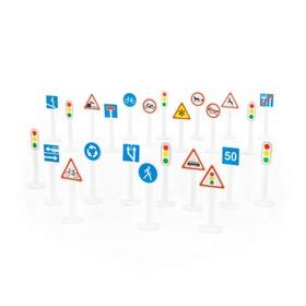 Набор дорожных знаков №3 (24 элемента) (в пакете) Ош