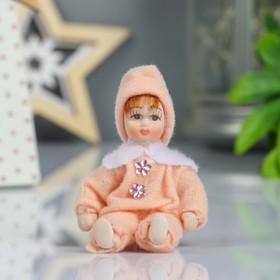 Кукла коллекционная керамика 'Малышка в комбинезоне' 9 см МИКС Ош