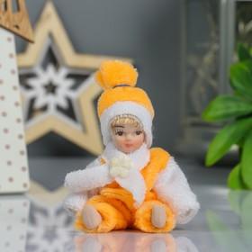 Кукла коллекционная керамика 'Малышка в комбинезоне и шарфике' 9 см МИКС Ош