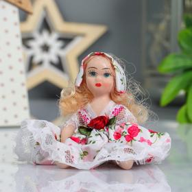 Кукла коллекционная керамика 'Малышка в платье в цветочек' 10,5 см МИКС Ош