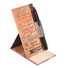 Ручка на открытке с бумажным блоком