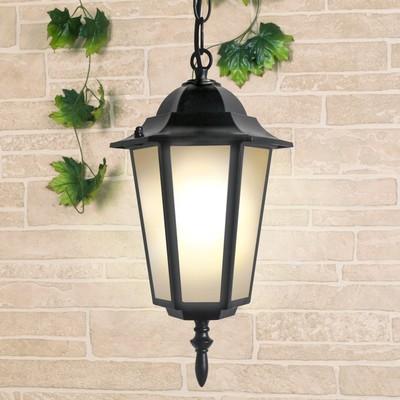 Светильник Elektrostandard садово-парковый, 100 Вт, E27, IP44, подвесной, 1004H черный