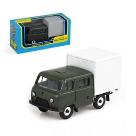 Машинка УАЗ-39094, с будкой «Фермер», масштаб 1:43, цвет МИКС