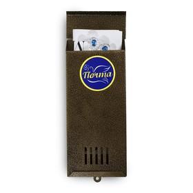Ящик почтовый без замка (с петлёй), вертикальный, «Узкий», бронзовый Ош