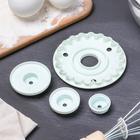 Набор кондитерских выемок для марципана и теста, 3 предмета: печать кондитерская 9×2 см, 2 насадки - Фото 2