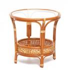 Стол со стеклом, 64 × 64 × 61 см, цвет коньячный, 02/15A