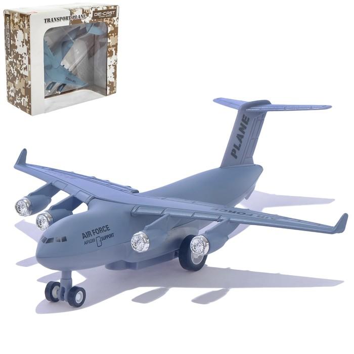 Самолет металлический «Воздушные силы», инерционный, 1:500