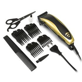 Машинка для стрижки волос LuazON LTRI-14, 4 уровня стрижки, 15 Вт, золото, 220V Ош