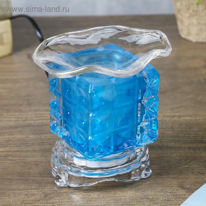Светильник арома куб плетёнка 12*8 см  МИКС