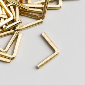 Защитный уголок для альбома металл золото 1,8х2,5х0,4 см Ош
