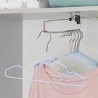 Вешалка-плечики для одежды детская с антискользящим покрытием, размер 30-34, цвет синий
