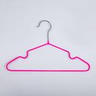 Вешалка-плечики для одежды детская с антискользящим покрытием, размер 30-34, цвет ярко-розовый