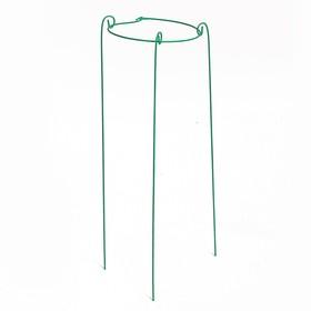 Кустодержатель, d = 20 см, h = 70 см, ножка d = 0.3 см, металл, зелёный, троеножка Ош