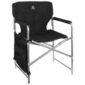 Кресло складное КС2, 49 х 55 х 82 см, цвет чёрный Ош