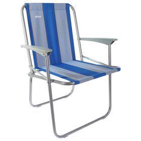 Кресло складное КС4, 57,5 х 61,5 х 74 см, синие полоски Ош