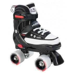 Раздвижные роликовые коньки HUDORA Rollschuh Roller Skate, размер 28-31, цвет чёрный