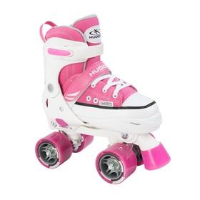 Раздвижные роликовые коньки HUDORA Rollschuh Roller Skate, размер 32-35, цвет розовый